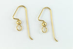 20mm Gold Filled Angular Ear Wire with Ball #BGF017-General Bead