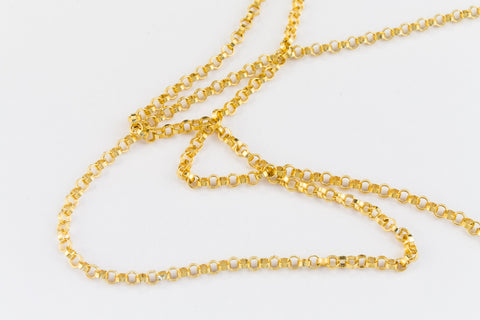 1.3mm 14 Karat Gold Filled Rolo Chain #BGU089-General Bead
