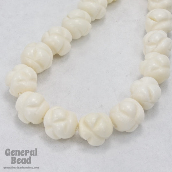 10mm Carved Knot Bone Bead (10 Pcs) #BNH010