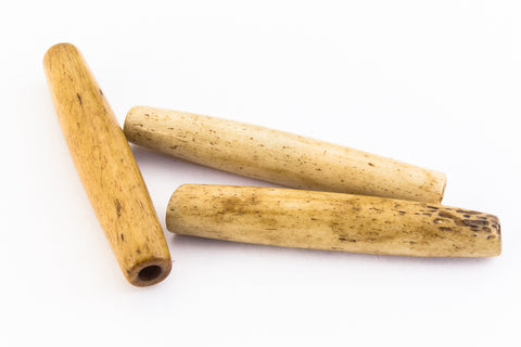 1 1/2 Inch Natural Bone Hair Pipe #BNH203