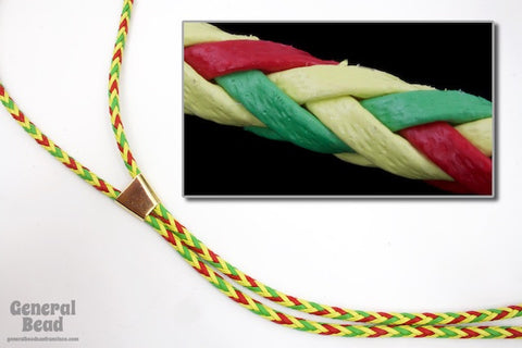 "36"" Red/Yellow/Green Chevron Bolo Cord"