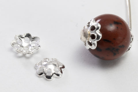 5mm Sterling Silver Filigree Flower Bead Cap #BSA051