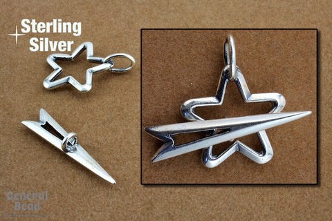 16mm Sterling Silver Star Toggle Clasp-General Bead
