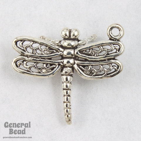 22mm Sterling Silver Dragonfly Charm