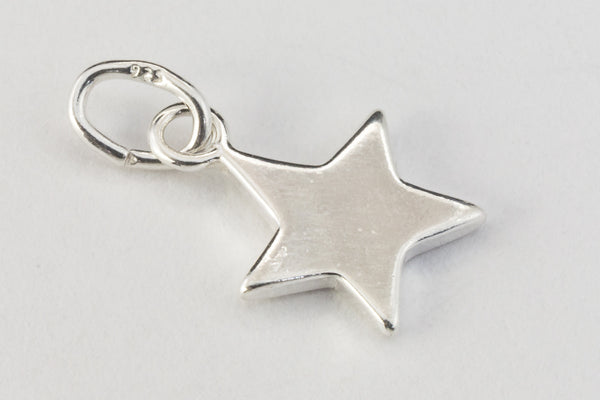 12mm Sterling Silver Solid Star Charm #BSH043