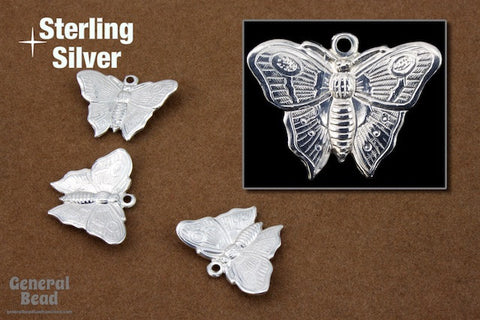 16mm Sterling Silver Butterfly Charm