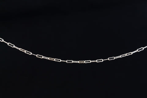 3.8mm Sterling Silver Krinkle Chain #BSI089-General Bead