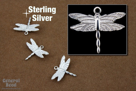 16mm Sterling Silver Dragonfly Charm