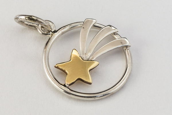 14mm Sterling Silver Shooting Star Charm #BSM043