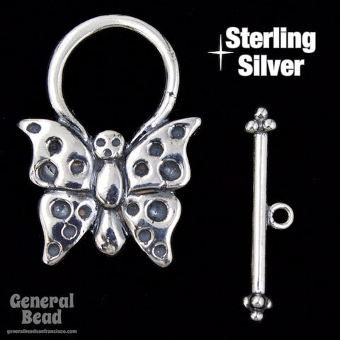 27mm Sterling Silver Butterfly Toggle Clasp-General Bead