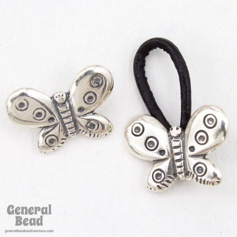 15mm Sterling Silver Butterfly Cord Lock Clasp Set