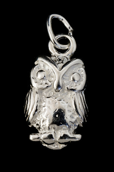 15mm Sterling Silver Owl Charm #BSR041
