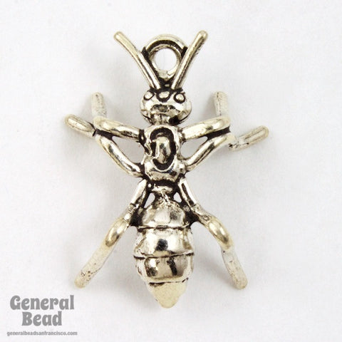 22mm Sterling Silver Ant Charm