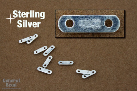 11mm Sterling Silver Two Hole Spacer Bar #BSA052