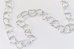 4mm Sterling Silver Heart Shaped Chain #BSW089-General Bead
