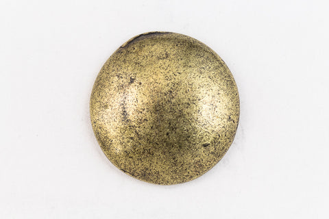 19.5mm Antique Brass Pewter Dome Button #BUT062B-General Bead