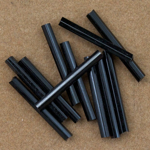 20mm Opaque Black Bugle (10 Gm, 40 Gm, 1/2 Kilo) #CBI013-General Bead