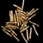 Size 5 Silver Lined Gold Twist Bugle (10 Gm, Hank, 1/2 Kilo) #CBN002-General Bead
