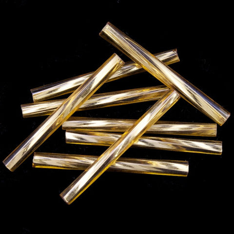 25mm Silver Lined Gold Twist Bugle (40 Gm) CBQ017