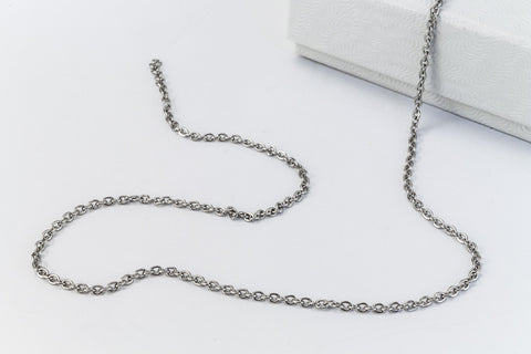 Stainless Steel .75mm Curb Chain CCA017-General Bead
