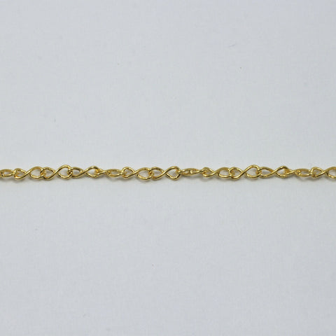 5mm x 2mm Bright Gold Figure Eight Chain CC152-General Bead