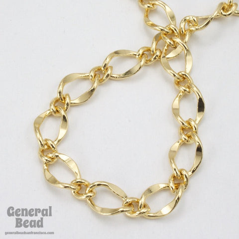 11mm x 7.4mm Bright Gold Figaro Chain CC201-General Bead
