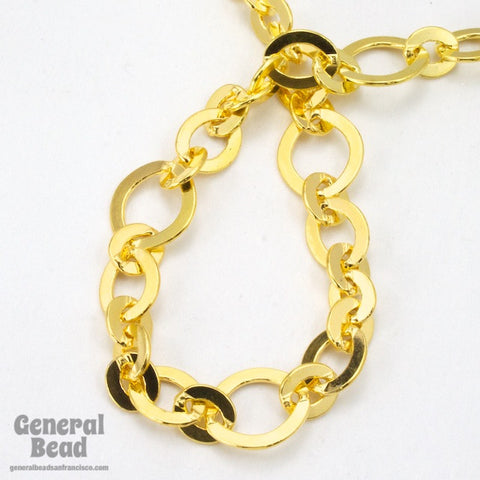11mm x 10mm Bright Gold Fancy Cable Chain CC202-General Bead