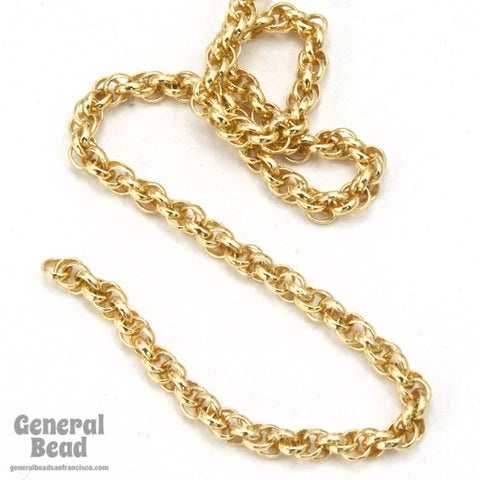 1.6mm Gold Spiral Rope Chain CC259