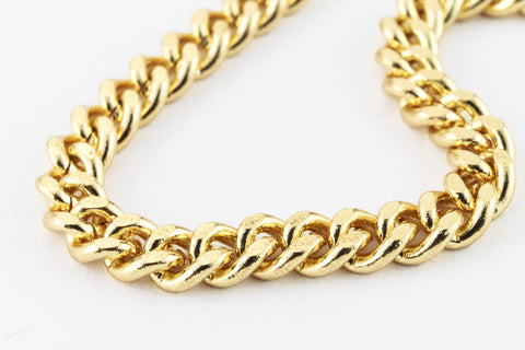 Gold Plated Stainless Steel 5mm x 3.25mm Curb Chain CCB011-General Bead