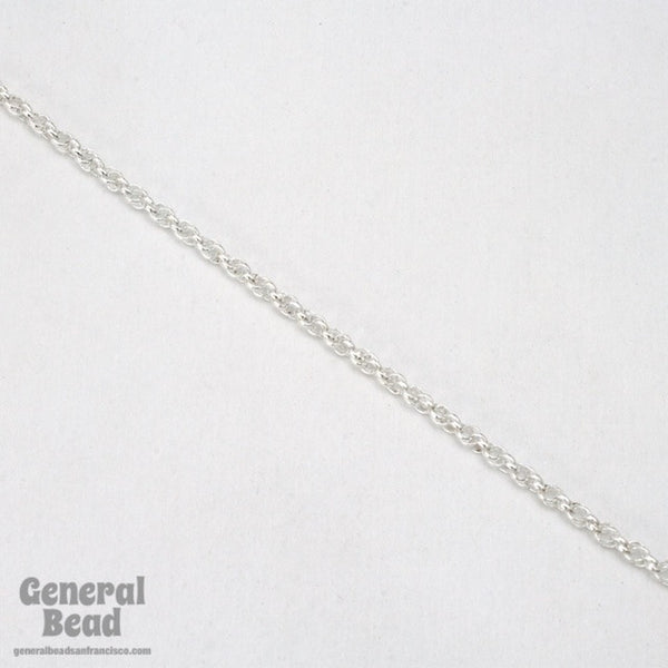 1.6mm Silver Spiral Rope Chain CC259