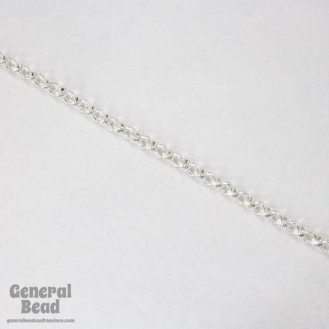 5mm Silver Textured Rolo Chain CC246-General Bead