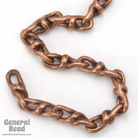 11mm x 3.5mm Antique Copper Rotating Figure 8 Chain