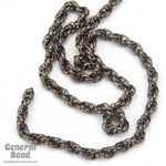 1.6mm Gunmetal Spiral Rope Chain CC259-General Bead