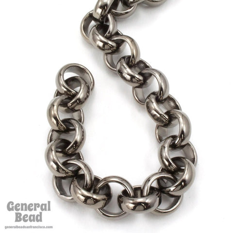 11mm Gunmetal Rolo Chain CC230