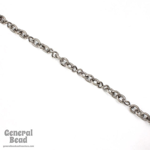 Gunmetal 8mm x 10mm Oval and 7mm x 12.7mm Twist Link Chain CC240-General Bead