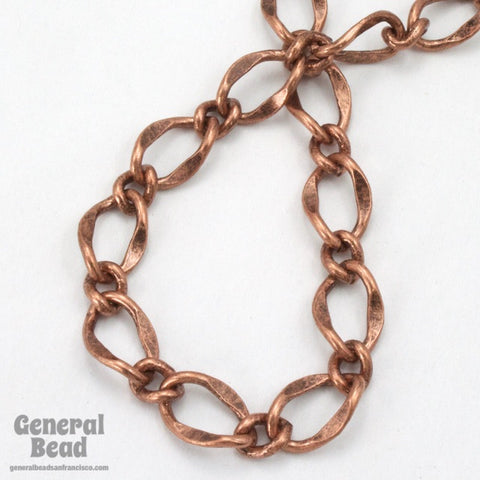 11mm x 7.4mm Antique Copper Figaro Chain CC201-General Bead