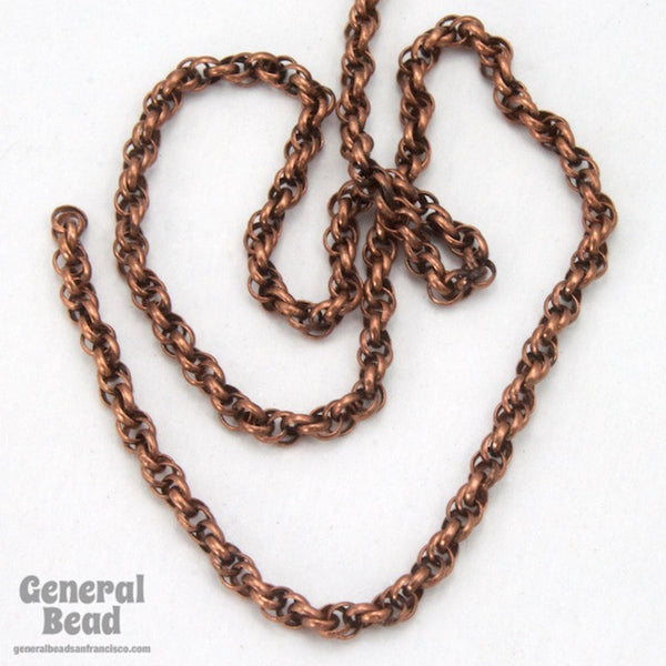 1.6mm Antique Copper Spiral Rope Chain CC259