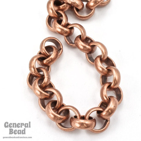 11mm Antique Copper Rolo Chain CC230