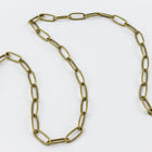 Antique Brass 7.9mm Rectangular Cable Chain #CC124-General Bead
