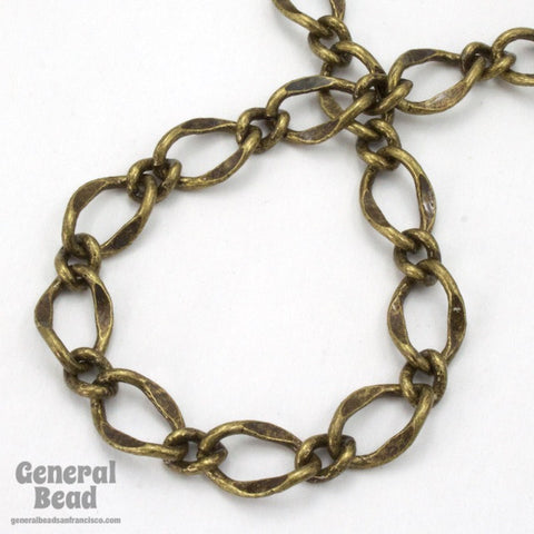 11mm x 7.4mm Antique Brass Figaro Chain CC201-General Bead