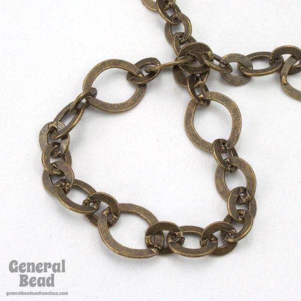 11mm x 10mm Antique Brass Fancy Cable Chain CC202