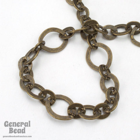 11mm x 10mm Antique Brass Fancy Cable Chain
