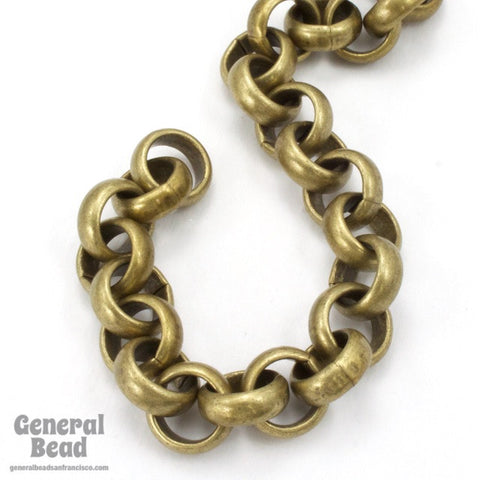 11mm Antique Brass Rolo Chain CC230-General Bead