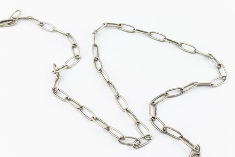 Antique Silver 7.9mm Rectangular Cable Chain #CC124-General Bead