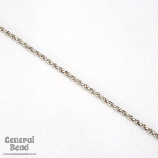 1.6mm Antique Silver Spiral Rope Chain CC259