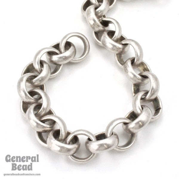 11mm Antique Silver Rolo Chain CC230