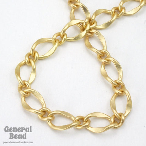 11mm x 7.4mm Matte Gold Figaro Chain CC201-General Bead