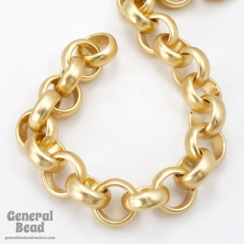 11mm Matte Gold Rolo Chain CC230-General Bead