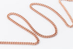 Rose Gold, 1.5mm Delicate Curb Chain #CC45-General Bead