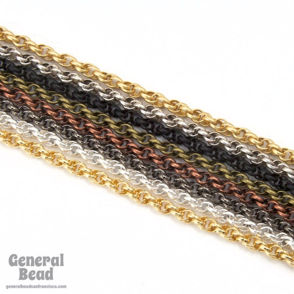1.6mm Gunmetal Spiral Rope Chain CC259